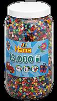 Термомозаика Набор цветных бусин Midi, 13.000шт, 50 цветов, Hama