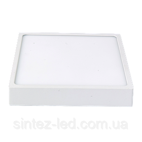 Светодиодный cветильник накладной Slim LUXEL 24W 4000K квадратный белый Код.57580