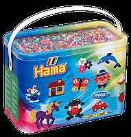 Термомозаика Набор цветных бусин Midi, 30.000 шт, 50 цветов, Hama, фото 1