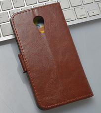 Кожаный чехол-книжка для Meizu Mx4 черный, фото 2