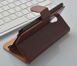 Кожаный чехол-книжка для Meizu Mx4 черный, фото 3