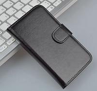 Кожаный чехол-книжка для Meizu Mx5 черный
