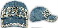 Джинсовая летняя кепка со стразами Kenzo
