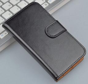 Кожаный чехол-книжка для Sony Xperia ZR M36h C5502 C5503 черный, фото 2