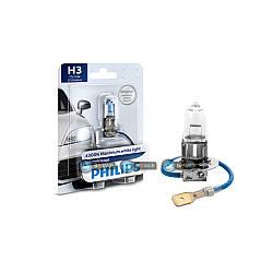 Галогенновая лампа Philips H3 White Vision +30% 12336WHVB1.
