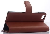Кожаный чехол-книжка для  Zte Nubia Z9 Mini коричневый, фото 3