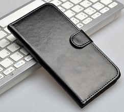 Кожаный чехол-книжка для Huawei Ascend Mate 7 черный