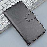 Кожаный чехол-книжка для Huawei Ascend P7 черный
