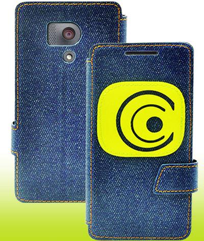 Чехол-книжка для Huawei Honor 3 джинс синий, фото 2
