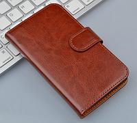Чехол книжка для Nokia Lumia 520 коричневый