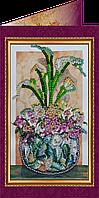Набор для вышивки бисером «Открытка» Цветы в подарок-2