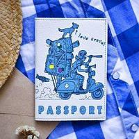 Обложка для паспорта Тинтин и Снежок выезжают в Канаду