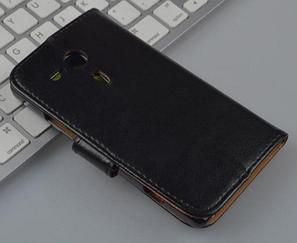 Кожаный чехол-книжка для Sony Xperia SP M35h C5302 C5303 черный, фото 2