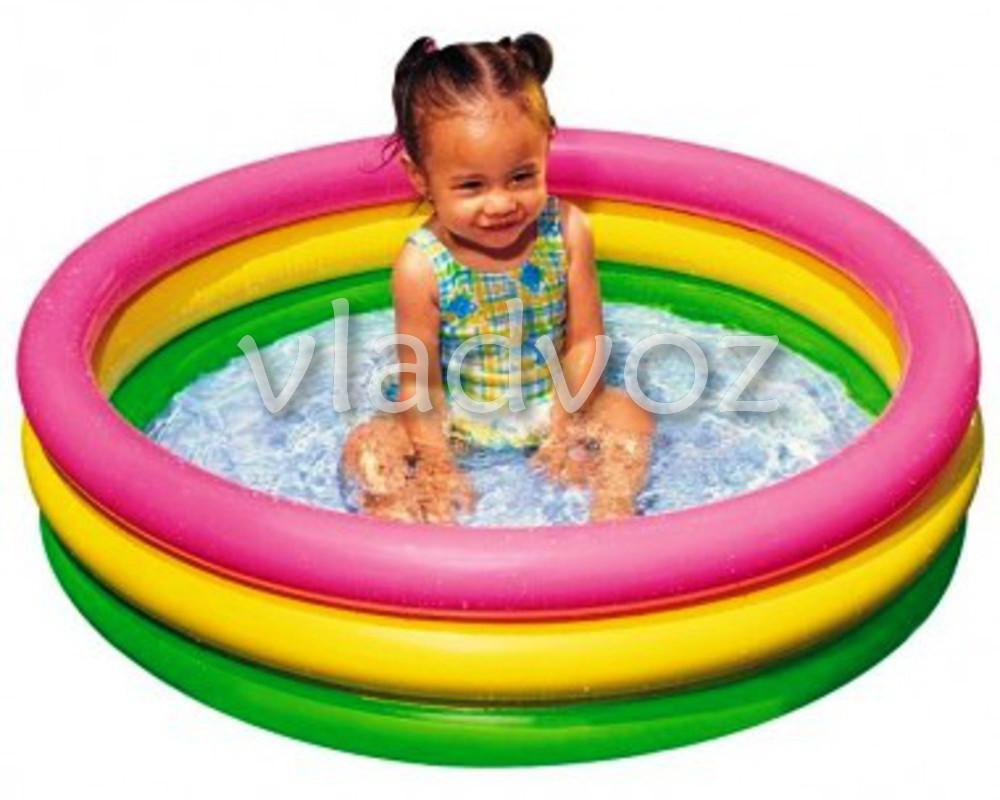 Фото детского надувного бассейна с надувным дном Intex 58924