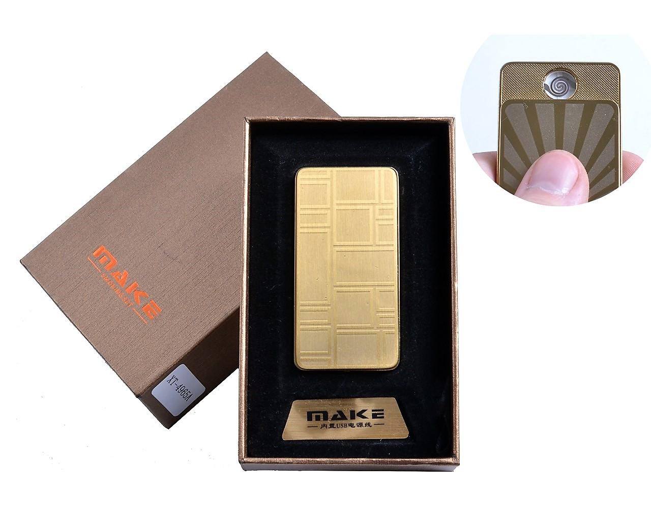 Спиральная USB зажигалка Make №4695-3, прикуриваем без проблем в любую погоду, в подарочной коробке
