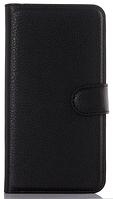 Кожаный чехол-книжка для  Lenovo Vibe S1 черный