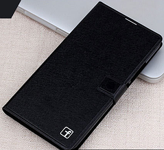 Кожаный чехол-книжка для Huawei Mate 2 черный
