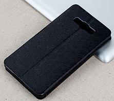 Стильный чехол-книжка для Samsung Galaxy A7 A700 черный, фото 2