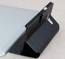 Стильный чехол-книжка для Samsung Galaxy A7 A700 черный, фото 3
