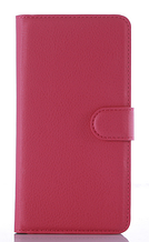 Кожаный чехол-книжка для DOOGEE X5 Max розовый