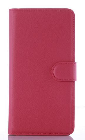 Кожаный чехол-книжка для DOOGEE X5 Max розовый, фото 2