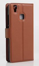 Кожаный чехол-книжка для DOOGEE X5 Max розовый, фото 3