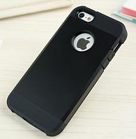 Стильный чехол бампер для iPhone 5 5S черный