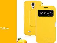 Уникальный чехол-книжка для Samsung Galaxy S4 i9500 желтый
