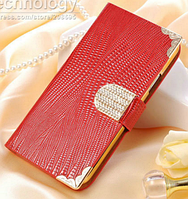 Роскошный чехол-книжка для Samsung Galaxy S5 i9600 SM-G900 красный