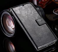 Кожаный чехол-книжка для Samsung Galaxy S6 Edge черный