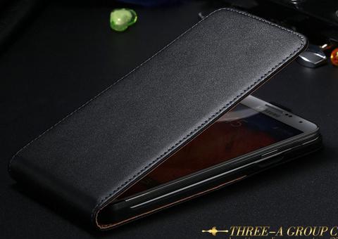 Кожаный чехол флип для Samsung Galaxy Note 3 N9000 N7200 черный