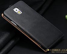 Кожаный чехол флип для Samsung Galaxy Note 3 N9000 N7200 черный, фото 3