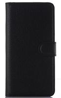 Кожаный чехол-книжка для Samsung galaxy j1 2014 j100 черный