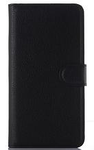 Кожаный чехол-книжка для Samsung galaxy j1 2015 j100 черный