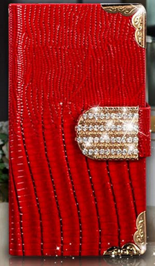 Роскошный чехол-книжка для Samsung Galaxy Note 3 N9000 N7200 красный