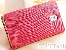 Роскошный чехол-книжка для Samsung Galaxy Note 3 N9000 N7200 красный, фото 3