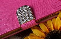 Роскошный чехол-книжка для Samsung Galaxy Note 3 N9000 N7200 красный, фото 2