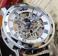 Механические мужские часы Winner скелетон
