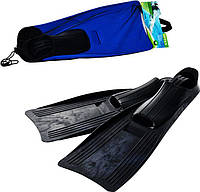 Ласты Intex 55934 подростковые, размер М 38-40 (24-26 см), ботинок из термопластика, синий, черный
