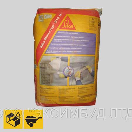Sika MonoTop-910 - Антикоррозионная защита арматуры и клеящий раствор, 25 кг
