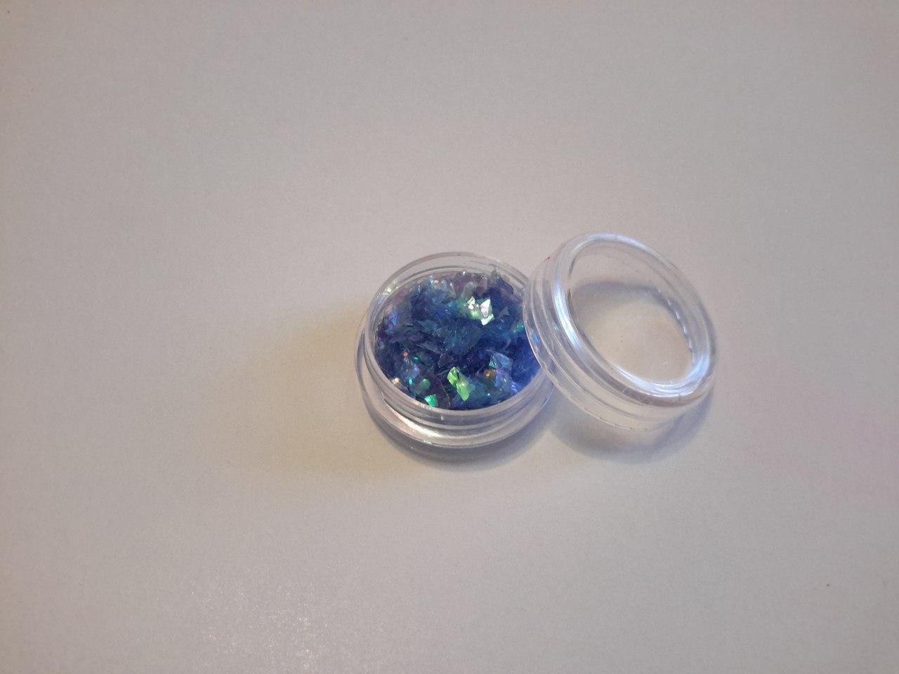 Слюда для дизайна ногтей (битое стекло)