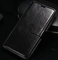Кожаный чехол-книжка для  Huawei Honor 4C черный