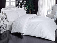 "Постель""Mariposa"" Ottoman white v1 De Luxe Tencel бамбук жаккард 200х220"