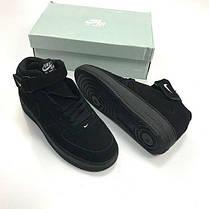 Мужские кроссовки Nike Air Force 1 Hight Black топ реплика, фото 3