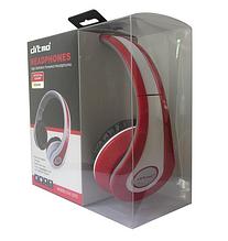 Наушники Ditmo DM-2590 съемный кабель, красные