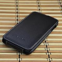 Кожаный чехол-флип Melkco для Lenovo A850 черный
