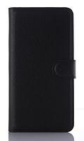 Кожаный чехол-книжка для HomTom HT17 черный