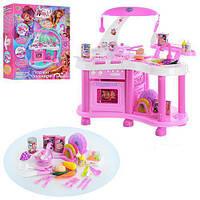 Игрушечная кухня для детей WX 0003 U/R, свет, звук, раковина, плита, продукты, пластик, высота 62 см