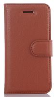 Кожаный чехол-книжка для Lenovo Vibe k5, Vibe k5 plus, A6020 коричневый
