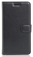 Кожаный чехол-книжка для Doogee F5 черный